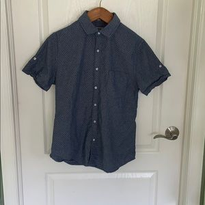 Express Fitted Short-Sleeve Shirt